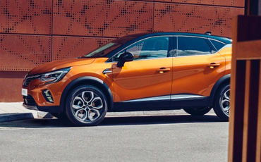 Orange Renault Capture SUV