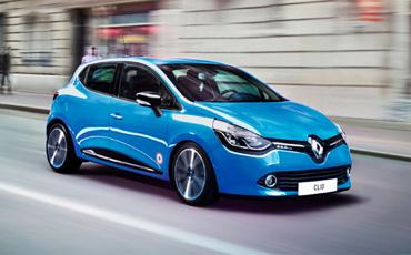 Blå Renault Clio