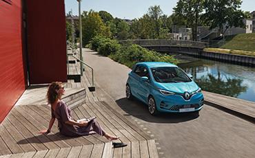 Blå Renault Zoe, Celadon